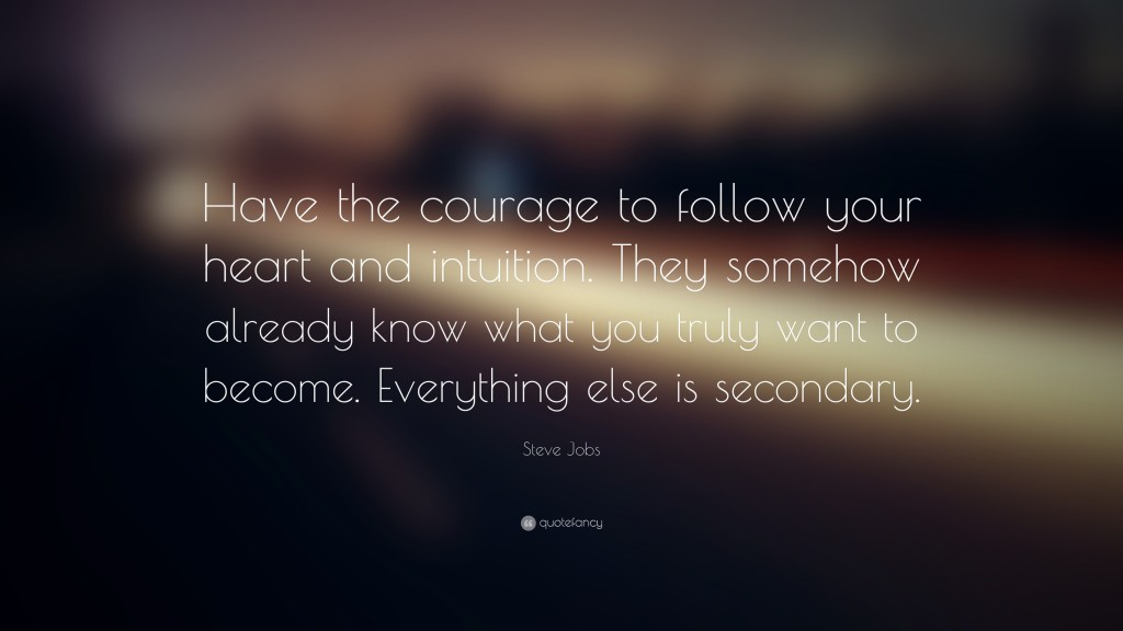 Be Strong and Follow Your Intuition -